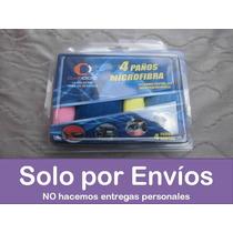 Set 4 Paños Microfibra Carro: Lavar Limpiar Pulir Vidrios