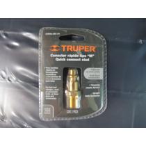 Conector Macho Rosca 1/4 Npt Rapido Para Aire Tipo M Truper