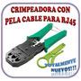 Ponchadora Crimpiadora Para Rj45 Y Rj11 + Peladora De Cable
