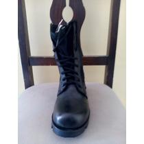 Botas De Cuero Tipo Paracaidista Color Negro Talla 36 Y 38