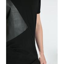 Camiseta Zara Man Con Polipiel