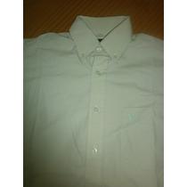 Camisa Wrangler Blanca A Rayas Manga Larga S Original Ved