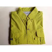Camisa Columbia De Hombre Verde Manzana Talla M