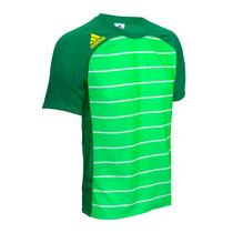 Franela Adidas Para Caballero (verde/blanco)