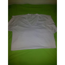 Franela Algodon Peruano /cuello V Blanco
