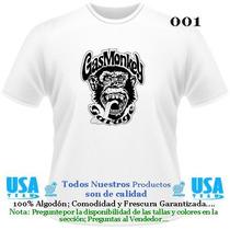 Franelas Estampadas Gas Monkey