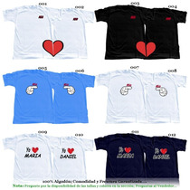 Franelas Personalizadas Día De Los Enamorados Amistad Pareja