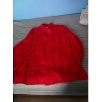 Camisa Guayabera Para Caballero Color Roja