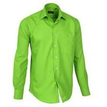 Camisa Estivaneli Caballeros / Verde L/g Fitted