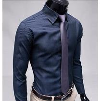 Elegante Camisa Manga Larga. Slim Fit.