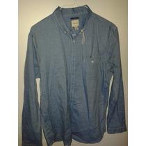 Camisa Para Caballero Color Jeans Marca Bass Original Tl