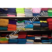 Franelas Unicolores 100% Algodon Damas Niños Caballeros