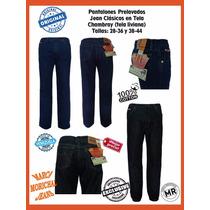 Pantalones Jeans Clásicos Caballeros Morichal Mayor Y Detal