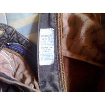 Pantalon Wranger Oscuro Con Hilo Maron Un Solo Uso Talla 30