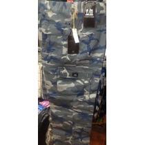 Pantalones Cargo Camuflados Tipo Militar Verde,azul Y Marron