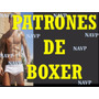 Moldes Patrones Imprimibles Boxer Caballeros Lenceria Ropa