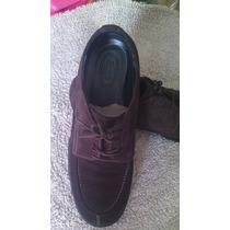 Zapatos Cuero De Gamuza 43 44 Italianos