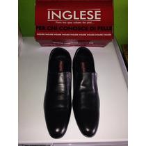 Zapatos Ingleses De Vestir Originales 100% Cuero Talla 44!