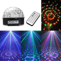 Luz Led Rgb Bola Usb Y Crystal Magic Ball Light Fiesta Dj