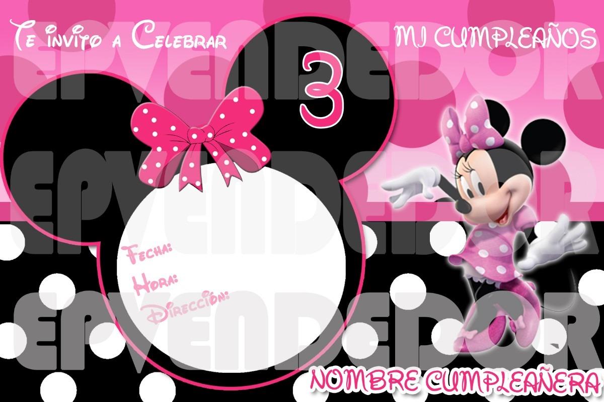 Tarjetas De Cumpleaños Free Of Charge Minnie
