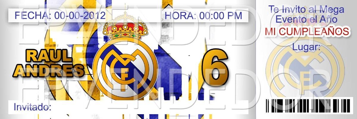 Resultado De Imagen De Invitaciones Del Real Madrid Para Cumpleanos