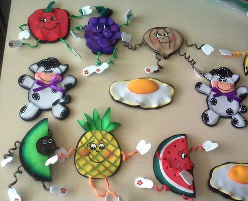 Dibujo en foami para decorar las neveras con iman - Imagui