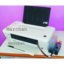 Impresora Hp 1015 + Sistema Tinta Continua Instalado + Tinta