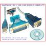 Practico Convertidor / Adaptador Usb A Rs-232 Db9 Y Db25