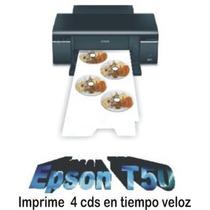 Modificamos Su Epson T50 Para Imprimir 4 Ó 5cds Rápido