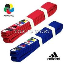 Cinturones Federados Adidas Elite Cintas De Karate Wkf