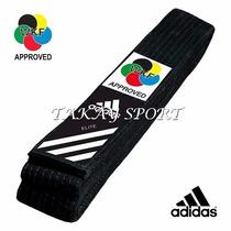 Cinturón Negro Adidas Elite Wkf Cinta Negra De Karate
