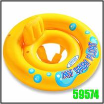 Flotador Inflable Bebes 67cm Diametro Orificio Pies 59574