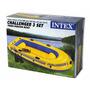 Bote Inflable Challenger 3 Con Remos Y Bomba Rio Playa Mar