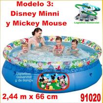 Piscina Familiar Inflable 244 X 66 Disney Princesas Cars Mic