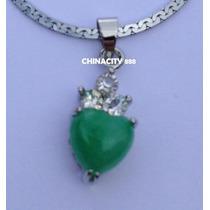 Dije Jade Mini Corazon 1,8 Cm + Cadena Fantasía