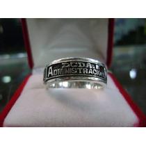 Aro Antiestres Graduacion Lcda Admon Logo Unesr En Plata 950