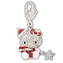 Dije De Cristales Swarovski Original Hello Kitty, Navidad