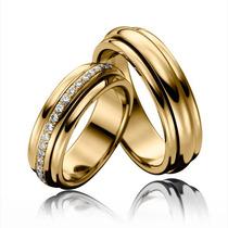 Argollas De Matrimonio Alianzas Anti Estrés, Relajantes 18k