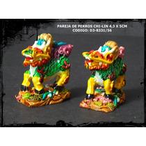 Pareja De Chi-lin (proteccion Y Prosperidad) 4,3 X 5cm