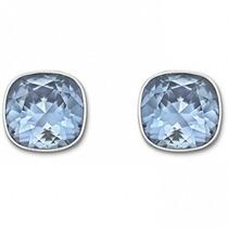 Zarcillos De Cristales Marca Swarovski Original, Color Azul
