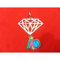 Dije Acero Con Forma De Diamante Artistas Online