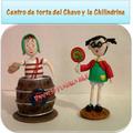 Centro De Torta Del Chavo En Masa Flexible