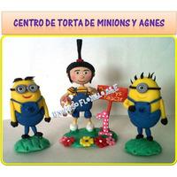 Centro De Torta De Minions Y Personajes De Gru