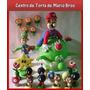 Centro De Torta De Mario Bros En Masa Flexible