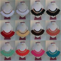 Collar Collares Babero Cordon Cadena Strass (modelo Bg)
