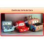 Centro De Torta De Cars En Masa Flexible O Porcelanicron