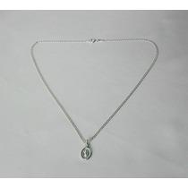 Cadena De Bautizo 40 Cms + Medallita Divino Niño Plata 925
