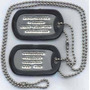 Cadena- Placa- Chapa Militar Personalizada- Acero Inoxidable