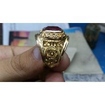 Anillos De Graduacion Con Baño De Oro 18k Piedra 10 X 12