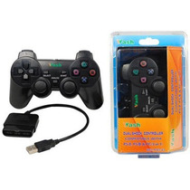 Control Alambrico Con Vibracion Cable Ps2 Ps3 Pc Usb Ccc